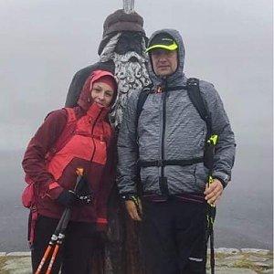 Kateřina Turčeková na vrcholu Praděd (19.9.2021 9:00)