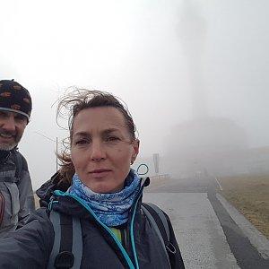 Marcela Kubíčková na vrcholu Praděd (22.9.2021 16:07)