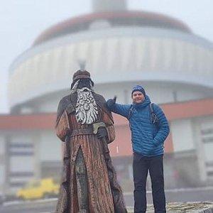 Tomáš Mucha na vrcholu Praděd (15.10.2021 13:10)