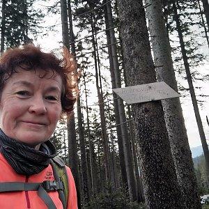Anna na vrcholu Rožnovský vrch (2.1.2021)