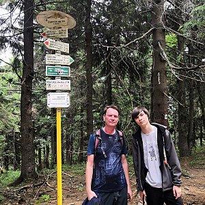 Pavel a Lukáš na vrcholu Čertův mlýn (3.8.2019 12:50)