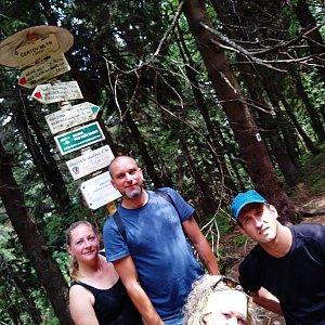 Pažitka team na vrcholu Čertův mlýn (20.7.2019 11:30)