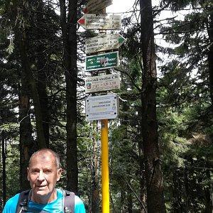 MUDr.Svatopluk Kunčar na vrcholu Čertův mlýn (17.8.2019 13:12)