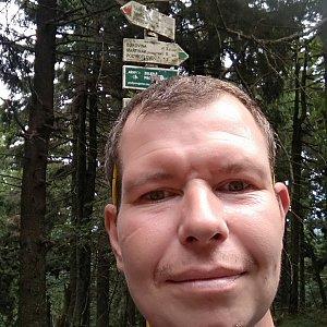 Michal Krčmář na vrcholu Čertův mlýn (17.8.2019 12:39)