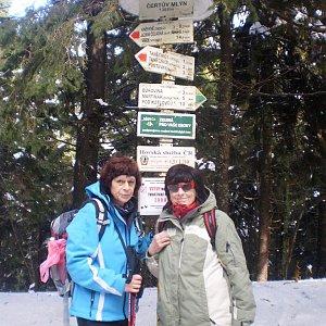 Vlasta a Zdena na vrcholu Čertův mlýn (10.3.2018 22:26)