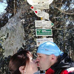 Brůča&Bubu na vrcholu Čertův mlýn (2.4.2018 13:00)