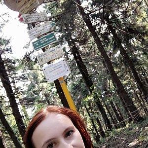 Jana Bartošová na vrcholu Čertův mlýn (20.7.2019 9:35)