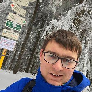 Bronislav na vrcholu Čertův mlýn (6.1.2020 11:30)