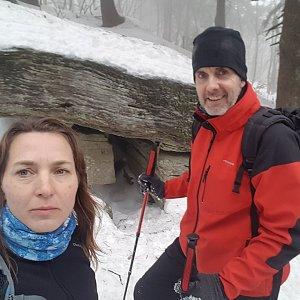 Marcela Kubíčková na vrcholu Čertův mlýn (11.1.2020 12:37)