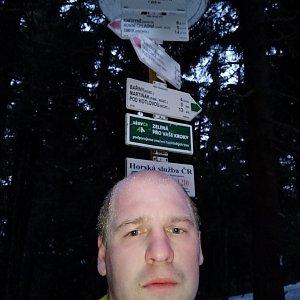 Petr Petrik na vrcholu Čertův mlýn (16.1.2020 16:39)