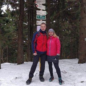 I+L Rajnochovi na vrcholu Čertův mlýn (18.1.2020 12:06)