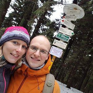 Michaela Karásková na vrcholu Čertův mlýn (2.2.2020 14:35)
