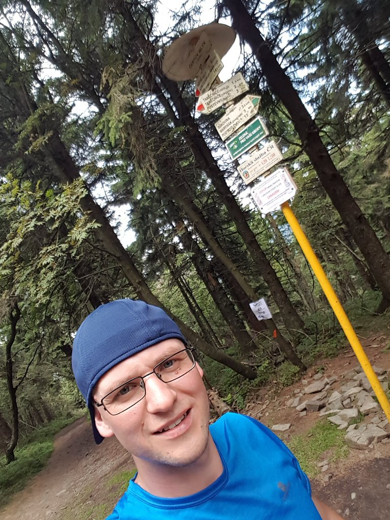 Michaela Karásková na vrcholu Čertův mlýn (29.7.2018 14:50)