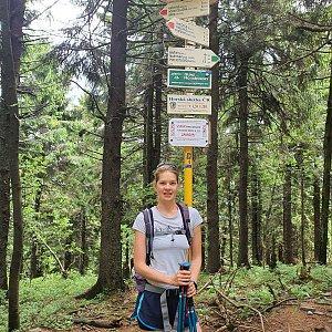 Hana Lančová na vrcholu Čertův mlýn (30.6.2020 11:01)