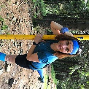 Veronika Spáčilová na vrcholu Čertův mlýn (6.7.2020 19:24)