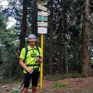 Jiří Sumbal na vrcholu Čertův mlýn (18.8.2018 16:45)
