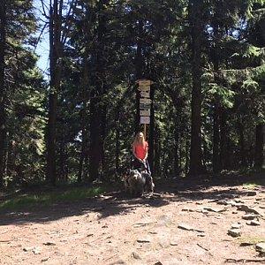 Ivana na vrcholu Čertův mlýn (1.8.2020 11:39)