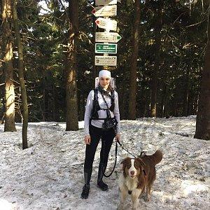 Markéta Čeníková na vrcholu Čertův mlýn (25.2.2021 12:00)