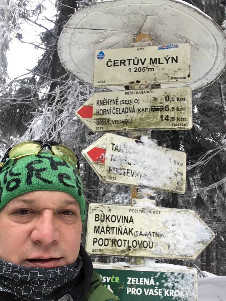 Pery na vrcholu Čertův mlýn (11.2.2019 13:28)