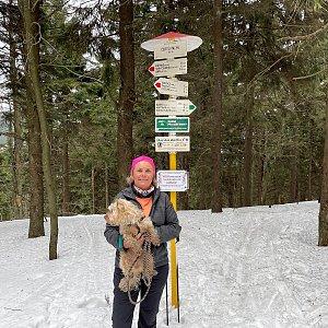 Magda na vrcholu Čertův mlýn (27.3.2021 12:37)