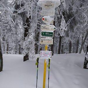ŠenovKK na vrcholu Čertův mlýn (16.4.2021 13:00)