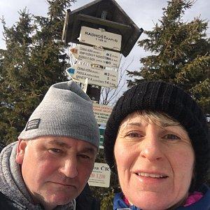 věrka na vrcholu Čertův mlýn (13.3.2019 12:30)