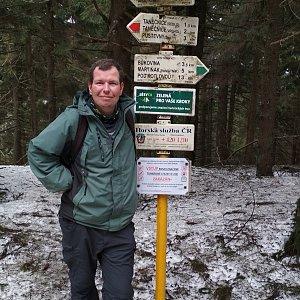 Michal Krčmář na vrcholu Čertův mlýn (24.3.2019 11:26)