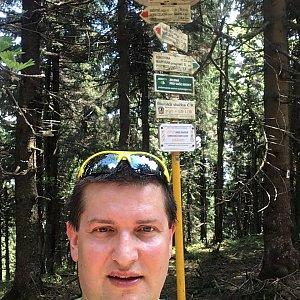Radim Škrabánek na vrcholu Čertův mlýn (1.6.2019 11:49)