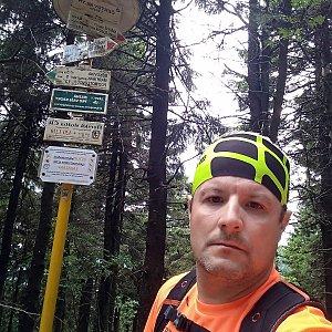 Vítězslav Vrána na vrcholu Čertův mlýn (9.6.2019 10:58)