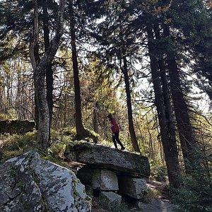 Marcela Kubíčková na vrcholu Čertův mlýn (3.10.2021 11:10)