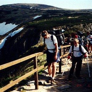 Mountainer na vrcholu Stříbrný hřbet (24.5.2001 15:20)