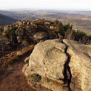 Iveta Válová na vrcholu Polední kameny (15.11.2020)