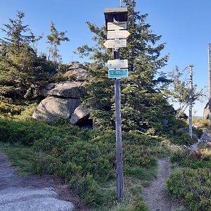 ZdenkaV na vrcholu Polední kameny (29.7.2020)
