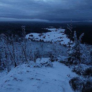 Bouřka na vrcholu Bukovec (1.1.2021 16:21)