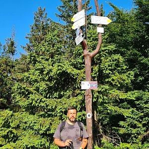 Jiří Gryz na vrcholu Klimczok (6.7.2021 8:18)