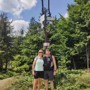 Jiří a Iveta na vrcholu Klimczok (24.7.2021 13:07)