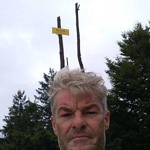Jaroslav Macura na vrcholu Klimczok (29.8.2021 9:30)