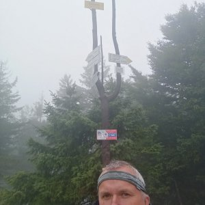 Michael na vrcholu Klimczok (24.8.2021 14:34)
