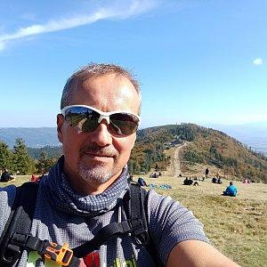 Merkys na vrcholu Klimczok (3.10.2021 13:00)