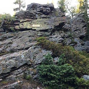 Jarek na vrcholu Janova skála (7.8.2020 6:37)