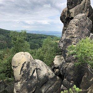 Radka Dubská na vrcholu Vraní skály (20.7.2021 13:56)