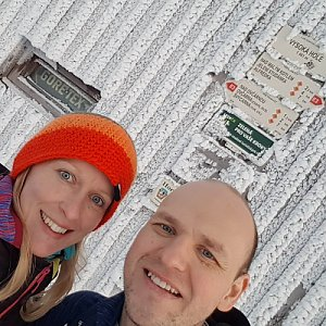Michaela Karásková na vrcholu Vysoká hole (13.12.2020 15:30)