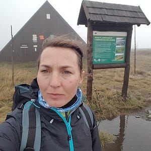 Marcela Kubíčková na vrcholu Vysoká hole (22.9.2021 13:30)