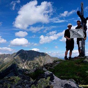 Martin na vrcholu Zinkenkogel (3.7.2021 8:25)