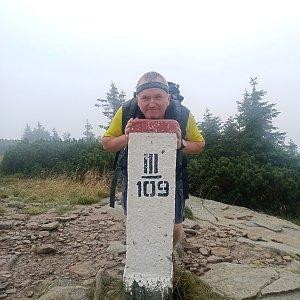 Michael na vrcholu Góra Pięciu Kopców (27.8.2021 12:47)