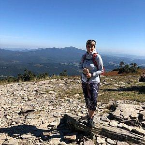 Radka Dubská na vrcholu Góra Pięciu Kopców (10.9.2021 12:11)