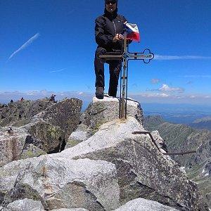 Jirka M. na vrcholu Gerlachovský štít (10.7.2020 12:11)