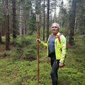 Jaroslav Hrabuška na vrcholu Ovčí vrch (2.6.2021 11:55)