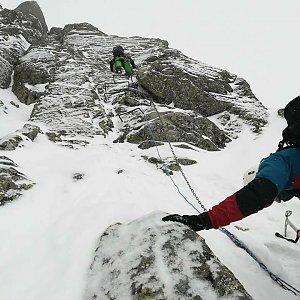 Mikeš na vrcholu Lomnický štít (20.1.2018 10:50)