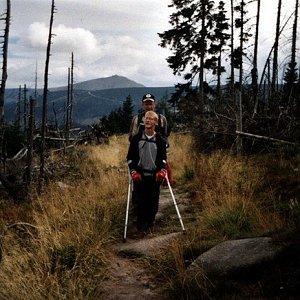 Mountainer na vrcholu Malý Šišák (21.9.2002 17:20)
